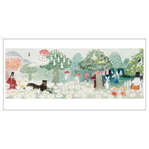 Moomin ムーミン Putinki プティンキ アートワークパノラマポストカード ( 飛行おにの帽子 )【北欧雑貨】