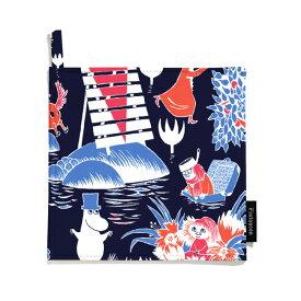Moomin ムーミン Finlayson フィンレイソン ポットホルダー2枚セット ( ヴィンテージ / ダークブルー )【北欧雑貨】