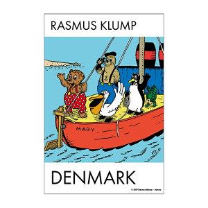 RASMUS KLUMP ラスムス クルンプ ポストカード ( 切手 )【北欧雑貨】