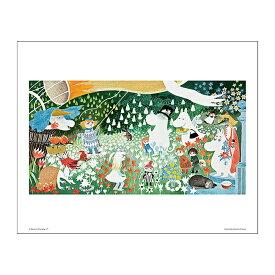 Moomin ムーミン Putinki プティンキ ミニポスター カラー ( デンジャラスジャーニー / 30×24mm )【北欧雑貨】
