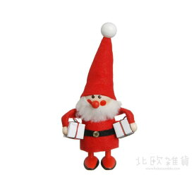 NORDIKA nisse ノルディカ ニッセ クリスマス 木製人形(よくばりサンタ/レッド/NRD120074) 【北欧雑貨】