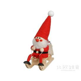 NORDIKA nisse ノルディカ ニッセ クリスマス 木製人形(そりに乗ったサンタ/レッド/NRD120072) 【北欧雑貨】