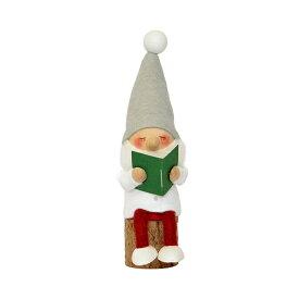 NORDIKA nisse ノルディカ ニッセ クリスマス 木製人形 (お座りねんねサンタ(本) / NRD120604)【北欧雑貨】