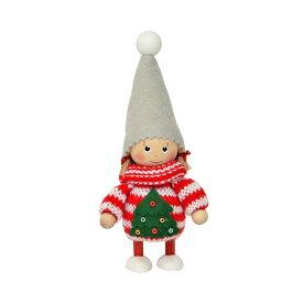 NORDIKA nisse ノルディカ ニッセ クリスマス 木製人形 (ニットセーター女の子(ツリー) / NRD120607)【北欧雑貨】