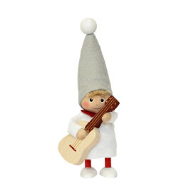 NORDIKA nisse ノルディカ ニッセ クリスマス 木製人形 (ギターを持った男の子 / NRD120608)【北欧雑貨】