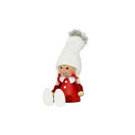 NORDIKA nisse ノルディカ ニッセ クリスマス 木製人形 (ぺたんこ座りの女の子 / NRD120611)【北欧雑貨】