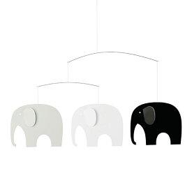 Flensted Mobiles フレンステッド・モビール ( Elephant Party エレファントパーティー / ブラック ホワイト / 71S )【北欧雑貨】