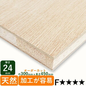 棚板 ラワンランバー厚さ24mmx巾300mmx長さ450mm 1.31kg安心のフォースター DIY 木材 端材 ラワン合板