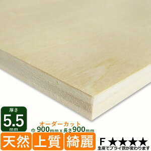 ベニヤ板 薄い シナ共芯合板厚さ5.5mmx巾900mmx長さ900mm 2.57kg安心の低ホルムアルデヒド DIY 木材 端材