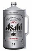アサヒスーパードライミニ樽アルミ3L×6本【送料無料】