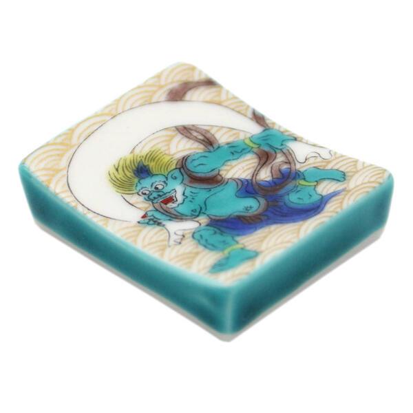 九谷焼箸置き 風神