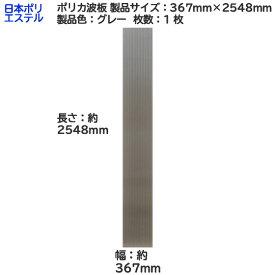 [ アウトレット ] 日本ポリエステル( ニッポリ ) ポリカ波板 1枚 製品色:グレー サイズ:幅 367mm×長さ 2548mm