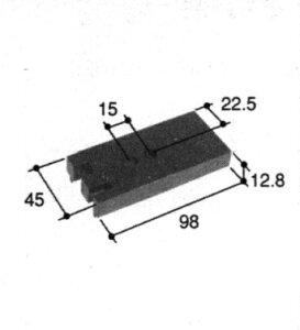 旧立山アルミ補修用部品 その他 コーナーブロック:コーナーブロック(たて枠)[PKH9110]【立山】【サッシ】【アルミサッシ】【コーナーパーツ】【樹脂部品】