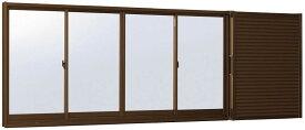 YKKAP窓サッシ 引き違い窓 フレミングJ[単板ガラス] 4枚建[雨戸付] 半外付型:[幅2740mm×高1830mm]