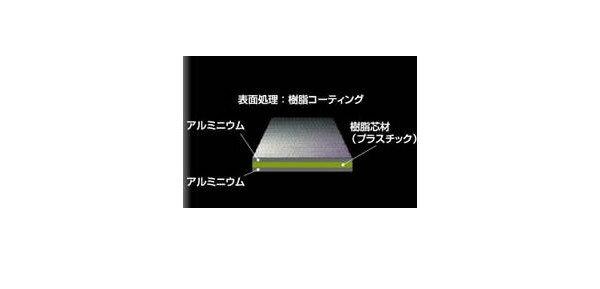 アルミ樹脂パネル[幅500mm×高200mm×厚3mm]【アルミパネル】【アルミ板】【ドアパネル】【オーダーサイズ】【3ミリパネル】【3ミリ板】【目隠し】