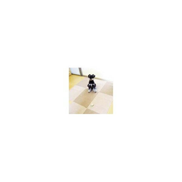 リフォーム用品 ペット用品 床材・壁シート タイルマット:サンコー おくだけタイルマット ベージュ淡6枚