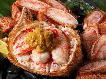 身がギッシリと詰まり、蟹味噌たっぷりで甘い最高級毛ガニです。