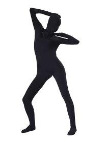 全身タイツおもしろい 服 ブラック 人気者 なりきり 大人用 zentaiアイテム(着脱簡単)フロントジッパー 忘年会 クリスマス会 大人用 メンズ レディース パーティー パーティーグッズ ハロウィン