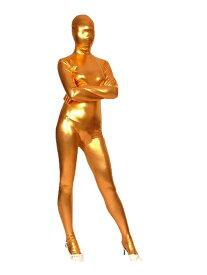 全身タイツおもしろい 服 ゴールド 人気者 なりきり 大人用 zentaiアイテム(着脱簡単)フロントジッパー 忘年会 クリスマス会 大人用 メンズ レディース パーティー パーティーグッズ ハロウィン