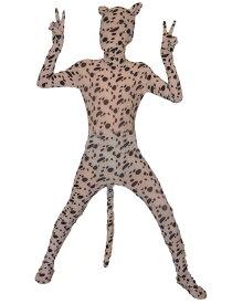 子供用全身タイツ ホワイト おもしろい 服人気者 なりきり zentaiアイテム(着脱簡単)フロントジッパー 忘年会 クリスマス会  パーティー パーティーグッズ ハロウィン