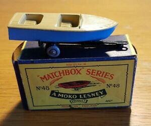 【送料無料】ホビー 模型車 車 レーシングカー ビンテージマッチ#メテオールスポーツボートvintage lesney matchbox no 48 meteor sports bateau mkii boxed