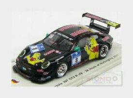 【送料無料】ポルシェグアテマラ#ニュルブルクリンクスパーク:シングルモデルPORSCHE 911 997-2 Gt3 Haribo #8 24H Nurburgring 2011 SPARK 1:43 SG028 Model