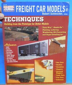 【送料無料】ホビー 模型車 モデルカー モデルテクニックソフトカバーfreight car models vol 1 techniques soft cover 1992