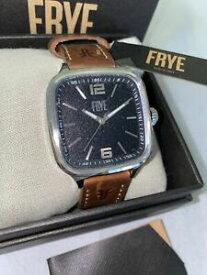 【送料無料】腕時計 フライメンズバワリーシルバースクエアウイスキーレザーストラップウォッチfrye mens bowery silver square whiskey leather strap 405mm watch
