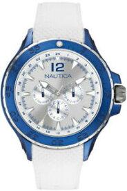 【送料無料】腕時計 メンズホワイトノーティカアルミニウムmens white nautica nst aluminum multifunction watch n18676g retail18500