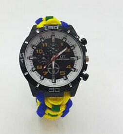 【送料無料】腕時計 ロイヤルフッサールカラーストラップパラコードウォッチparacord watch in the queens royal hussars coloured strap a great gift