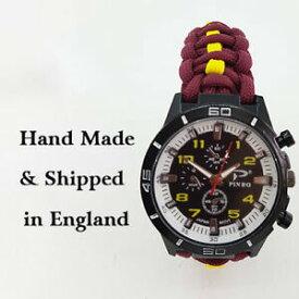 【送料無料】腕時計 キングスロイヤルフッサールパラコードウォッチparacord watch with kings royal hussars krh colours a great gift