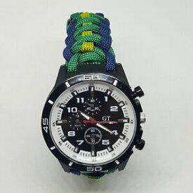 【送料無料】腕時計 クイーンズロイヤルアイリッシュフッサールパラコードウォッチparacord watch with the queens royal irish hussars qrih colours a great gift