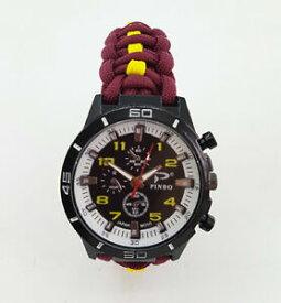 【送料無料】腕時計 フッサールパラコードウォッチparacord watch with the 11th hussars colours a great gift