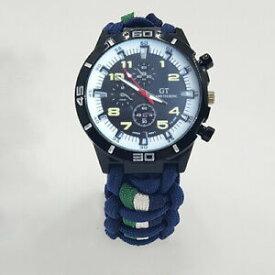 【送料無料】腕時計 パラコードウォッチロイヤルフッサールカラーparacord watch in 13th18th royal hussars colours a great gift