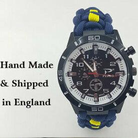 【送料無料】腕時計 パラコードストラップロイヤルフッサールparacord watch with 13th18th royal hussars colours for the strap a great gift