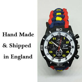 【送料無料】腕時計 パラコードウォッチキングスロイヤルフッサールparacord watch with 15th19th the kings royal hussars colours a great gift