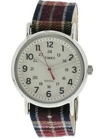 【送料無料】腕時計 タイムスウィメンズウィークエンドシルバークロスクォーツファッションウォッチtimex womens weekender tw2r42200 silver cloth quartz fashion watch