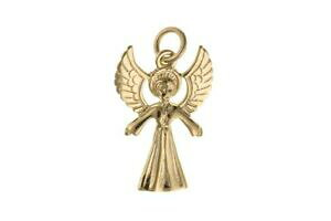 【送料無料】ジュエリー・アクセサリー ゴールドチャームエンジェル9ct or breloque ange