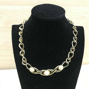 【送料無料】ジュエリー・アクセサリー モネゴールデンカラーネックレスパールmonet collier couleur doree avec perles 20228