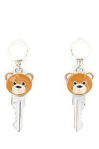 【送料無料】ジュエリー・アクセサリー モスキーノクチュールジェレミースコットキーテディベアクリップオンイヤリングメタルaw16 moschino couture x jeremy scott key teddy bear clip on earrings 100 metal