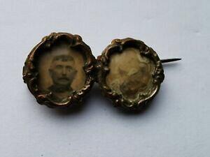 【送料無料】ジュエリー・アクセサリー ドアボタンクラフトブローチbroche ancienne artisanale sur bouton porte photo