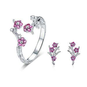 【送料無料】ジュエリー・アクセサリー ボロコスターリングシルバーフラワーリングイヤリングペンダントチャームvoroco 925 sterling silver flower ring and earrings pendant charm for women