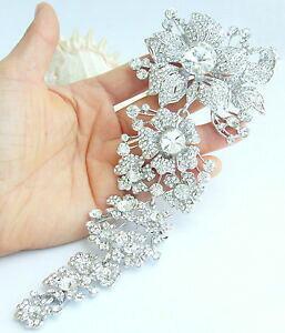 【送料無料】ジュエリー・アクセサリー ゴージャスブローチピンクリアオーストリアクリスタル73 gorgeous wedding flower brooch pin clear austrian crystal pendant 04704c1