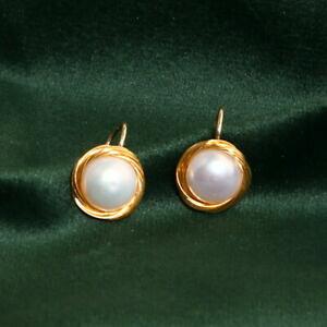 【送料無料】ジュエリー・アクセサリー イヤリングクリップオンゴールドメッキパールバロックタイドboucles doreilles clip on plaque or 14k perle culture baroque 10mm ficele tz4