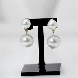 【送料無料】ジュエリー・アクセサリー イヤリングクリップオンゴールデンダブルパールホワイトクラスboucles doreilles clip on dore double perle blanche class yw8