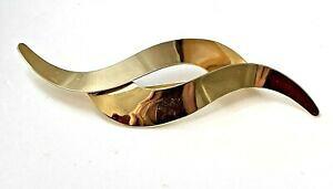 【送料無料】ジュエリー・アクセサリー ヴィンテージブローチゴールデンラインbroche vintage dore 8,9cm belle ligne