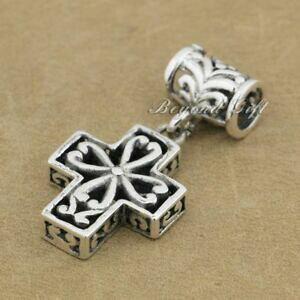 【送料無料】ジュエリー・アクセサリー スターリングシルバークロスファッションチャームhandmade 925 sterling silver decorative cross fashion charm pendant gift 9r012d