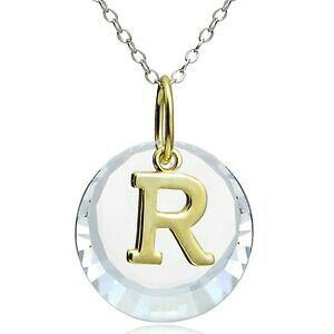 【送料無料】ジュエリー・アクセサリー シルバーシェードスワロフスキーネックレス925 argent deux nuances r initiale collier avec swarovski elements
