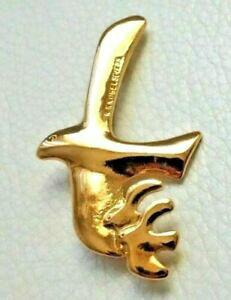 【送料無料】ジュエリー・アクセサリー ゴールドトーンドーヴブローチbroche dore oiseau 3 colombes signe h6cm etat neuf goldtone dove brooch pin
