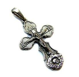【送料無料】ジュエリー・アクセサリー イエスキリストアダムスターリングシルバーcross orthodox jesus christ crucifix amp; skull of adam sterling silver 925 54